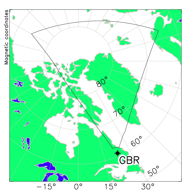 Schefferville Radar Field of View Map